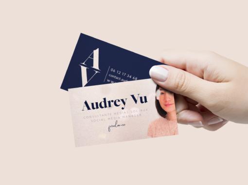 Audrey Vu – Social Média Manager | Cartes de visite