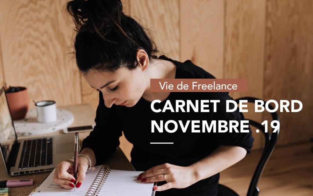 Novembre 2019 |Mon carnet de bord/bilan de graphiste freelance