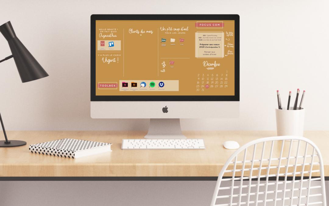 FREEBIE   Fond d'écran pour entrepreneuse organisée – Décembre 2019