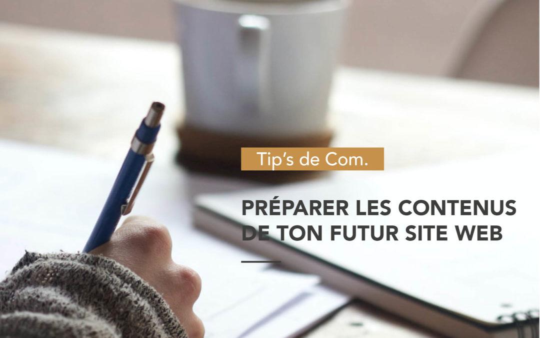 Comment Préparer le contenu de ton futur site web
